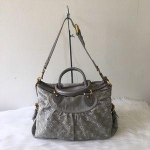 Louis Vuitton Gray Denim Bag